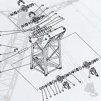 Стреловое оборудование ДЭК-251, Секция верхняя (251.20.22.000-01)