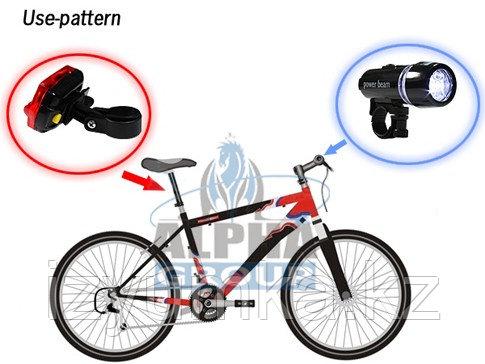 LED Фонарь/фара для велосипеда передняя и задняя - фото 4