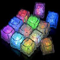 Светящиеся,мигающие кубики льда 12 шт., фото 1