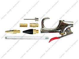 Набор продувочный пистолет, пневмат. в комплекте с насадками, 6 шт.// MATRIX