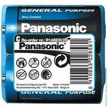 Panasonic R14BER/2P Батарейка солевая