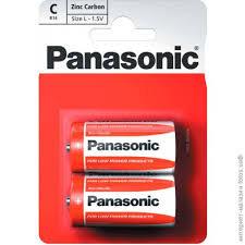 Panasonic R14REL/2BP Батарейка солевая PANASONIC Red Zinc С/2B