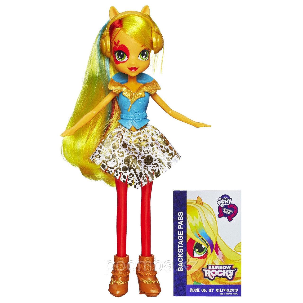 Кукла Apple Jack, из серии 'Радужный рок', My Little Pony Equestria Girls (Девушки Эквестрии), Hasbro