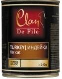 Clan De File 340г Индейка консервы для кошек, фото 1