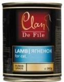 Clan De File 340г Ягненок консервы для кошек, фото 1