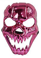 Маска для хэллоуина Череп розовый