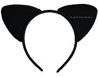 Ободок кошачьи ушки черные