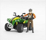 Квадроцикл с гонщиком Bruder (Брудер) (Арт. 63-000 63000), фото 3