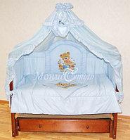 Комплект белья для детской кроватки  ПАННО 7 предметов розовый, фото 1