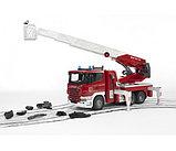 Пожарная машина Scania с выдвижной лестницей и помпой Bruder (Брудер) (Арт. 03-590; 03590), фото 2