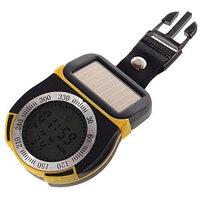 Цифровой компас, высотомер, барометр и термометр на солнечной батарее