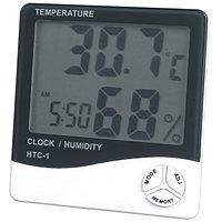 Цифровой термометр + гигрометр + часы, фото 1