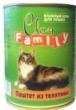 Clan Family 415г паштет из Телятины влажный корм для кошек, фото 1