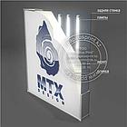 Лайтбокс из алюминиевого профиля 16 см. световой короб односторонний lightbox, фото 5