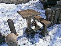 Столик и лавка гранитные-комплект