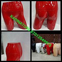 Манекен для демонстрации нижнего белья глянцевый, цвет красный