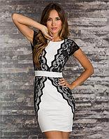 Черно-белое платье карандаш