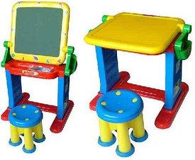 Детские столики,стульчики, парты, мольберты, доски для рисования и пр.