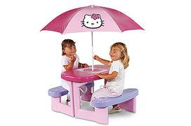 """Столик для пикника с зонтиком """"Hello Kitty"""""""