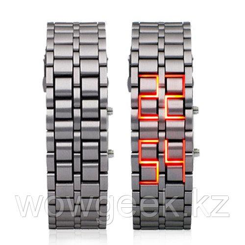 Самурайские Светодиодные Часы ( Красные)