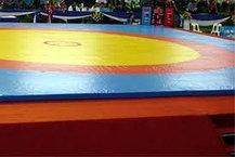 Ковер борцовский трехцветный 12х12м с покрышкой, толщина 4 см, фото 2