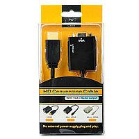Адаптер HDMI -VGA 15pin mama+3,5стерео/звук/ HD conversion cable, фото 1