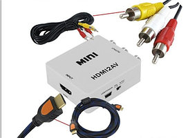 Конвертер  вход HDMI-выход 3 RCA   HDMI2AV  MINI