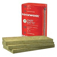 Утеплитель (базальтовый) ROCKWOOL ЛАЙТ БАТТС (плотность 38 кг/м3)