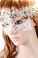 Кружевная белая маска