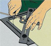 Циркульный стеклорез для угловых закруглений