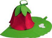 Набор из двух предметов (шапка дюймовочка, коврик зеленый лист),БШ