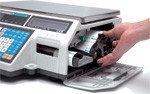 Весы электронные торговые с печатью этикеток CAS CL5000 со стойкой, фото 2