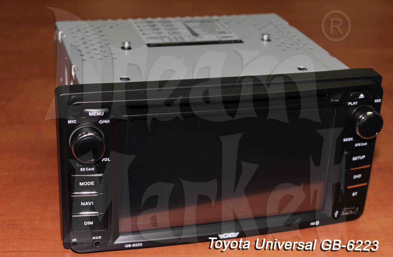 Автомагнитола Toyota Universal GB-6223, GPS, DVD, камера в подарок