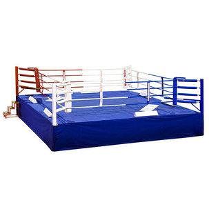 Ринг боксерский 5 х 5 м с помостом 6,1 х 6,1 помост 1м, фото 2