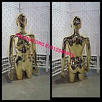 Манекен торс фигурный женский глянцевый цвет золота
