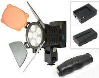 Накамерный прожектор LED-5010 + аккумулятор + зарядка