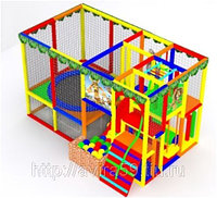 Детский игровой лабиринт. Джунгли-1 с батутом