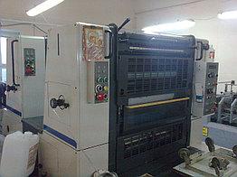 2-красочная печатная машина с переворотом Shinohara 66IIP, бу 1994