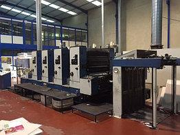 KBA Rapida 104-4 - офсетная 4-х красочная печатная машина 104x72 (B1), бу - 1992 г.