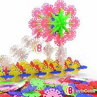 Пластмассовые строительные блоки Snowflake Puzzle 100 шт. , фото 1