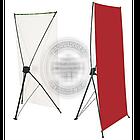 160х60 см. Х-баннер, мобильный Х-стенд, растяжка, паучек, паук, фото 3