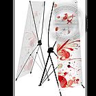 160х60 см. Х-баннер, мобильный Х-стенд, растяжка, паучек, паук, фото 4