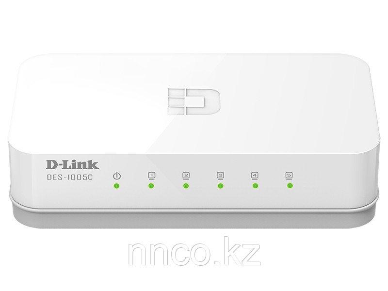 D-Link DES-1005C/A1A 5-порт неуправляемый коммутатор 10/100
