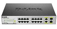 D-Link DES-1018MP/A1A Неуправляемый коммутатор 16 портов 10/100 с PoE + 2 комбо-порта 10/100/1000