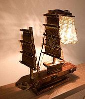 """Деревянный светильник """"Фрегат"""", фото 1"""