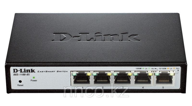 Настраиваемый компактный коммутатор EasySmart DGS-1100-05/A1A
