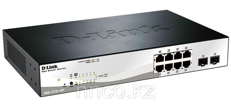 Настраиваемый коммутатор Web Smart с 8 портами DGS-1210-10P/C1A