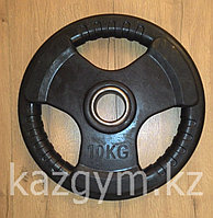 Блины, диски металл. обрезиненные, 3 хвата, d=50мм