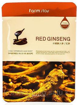 Маска для лица с экстрактом красного женьшеня Farmstay Visible Difference Mask Sheet Red Ginseng