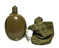Фляга армейская солдатская производства СССР, 0,75л в чехле